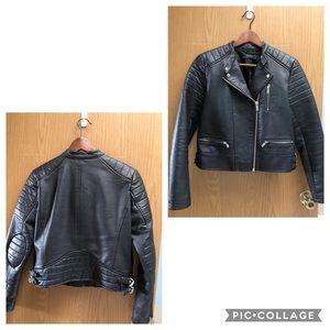 Zara Biker Faux Leather Jacket - Size M